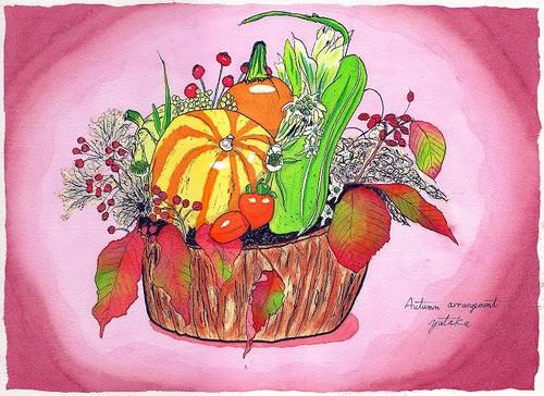 秋のアレンジメント