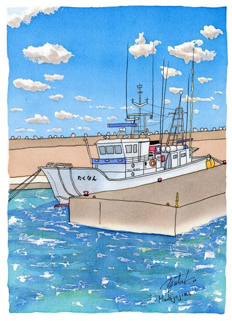 八丈島の神湊港